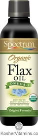 Spectrum Kosher Organic Flax Seed Oil 16 OZ