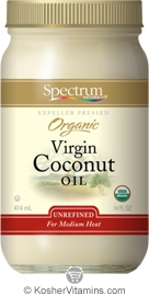 Spectrum Kosher Organic Expeller Pressed Virgin Coconut Oil Unrefined 14 OZ
