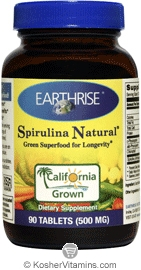 Earthrise Kosher Spirulina Natural 500 Mg 90 Tablets
