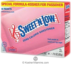 Sweet'N Low Kosher Zero Calorie Sweetener 50 Packets
