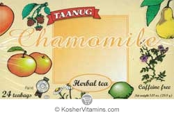 Taanug Kosher Chamomile Herbal Tea 24 Tea Bags