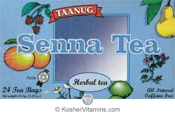 Taanug Senna Herbal Tea - Kosher for Passover 24 Tea Bags