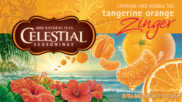 Celestial Seasonings Kosher Tangerine Orange Zinger 20 Bag