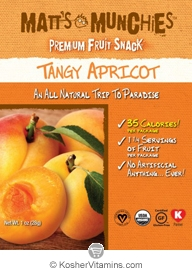 Matt's Munchies Kosher Premium Fruit Snack Tangy Apricot 1 Packet