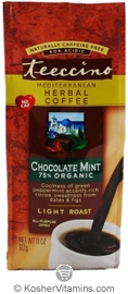 Teeccino Kosher Herbal Coffee Alternative Light Roast Chocolate Mint 11 OZ