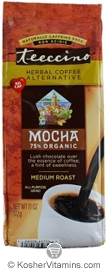 Teeccino Kosher Herbal Coffee Alternative Medium Roast Mocha 11 OZ