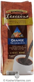 Teeccino Kosher Herbal Coffee Alternative Light Roast Orange 11 OZ
