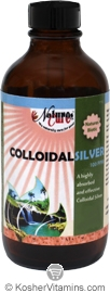 Natures Cure Kosher Colloidal Silver 100ppm Liquid 16 OZ