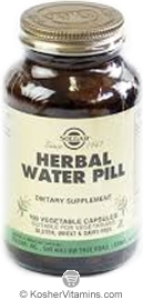 Solgar Kosher Herbal Water Pill 100 Vegetable Capsules