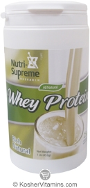 Nutri-Supreme Research Kosher Whey Protein Powder Rich Natural Dairy Cholov Yisroel 1 LB