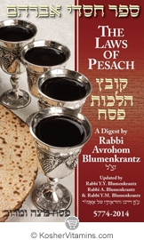 Book The Laws Of Pesach 5774-2014 Passover Guide by Rabbi Blumenkrantz 1 Book