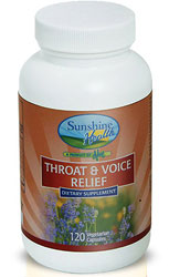 Sunshine Health Throat & Voice - Kosher for Passover 90 Vegetarian Capsules