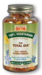 Health From The Sun The Total EFA Omega-3-6-9 100% Vegetarian Suitable not Certified Kosher 90 Vegetarian Softgels