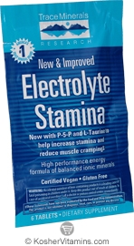 Trace Minerals Research Electrolyte Stamina Vegan Suitable not Certified Kosher 6 Tablets