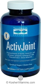 Trace Minerals Research ActivJoint Vegan Suitable not Certified Kosher 180 Tablets