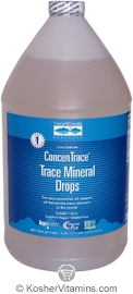 Trace Minerals Research Kosher Trace Mineral Drops ConcenTrace 128 OZ