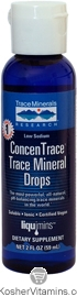 Trace Minerals Research Kosher Trace Mineral Drops ConcenTrace 2 OZ