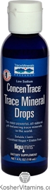 Trace Minerals Research Kosher Trace Mineral Drops ConcenTrace 4 OZ