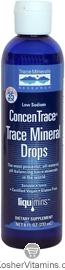 Trace Minerals Research Kosher Trace Mineral Drops ConcenTrace 8 OZ