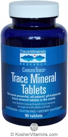 Trace Minerals Research Trace Mineral Tablets Vegan Suitable not Certified Kosher 90 Tablets