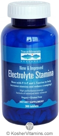 Trace Minerals Research Electrolyte Stamina Vegan Suitable not Certified Kosher 300 Tablets