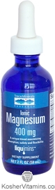 Trace Minerals Research Kosher Ionic Magnesium 400 Mg 2 OZ