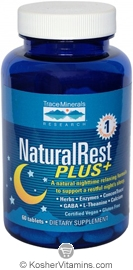 Trace Minerals Research NaturalRest Plus+ Vegan Suitable not Certified Kosher 60 Tablets
