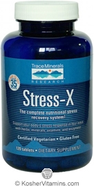 Trace Minerals Research Stress-X Vegetarian Suitable not Certified Kosher 120 Tablets