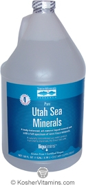 Trace Minerals Research Kosher Utah Sea Minerals 128 OZ