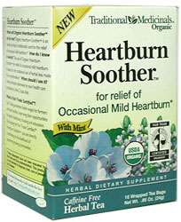 Traditional Medicinals Kosher Heartburn Soother Organic 6 Pack 16 Tea Bags