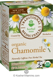 Traditional Medicinals Kosher Organic Herbal Chamomile 16 Tea Bags
