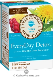 Traditional Medicinals Kosher EveryDay Detox 16 Tea Bags