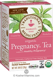 Traditional Medicinals Kosher Organic Women's Pregnancy Tea 16 Tea Bags