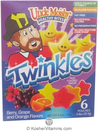 Uncle Moishy Kosher Healthy Bites Twinkles Fruit Flavored Snacks Assorted Flavor  BUY 1 GET 1 FREE  6 Pouches