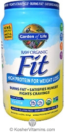 garden of life garden of life kosher raw fit organic high protein powder for weight loss 301 oz - Garden Of Life Raw Fit