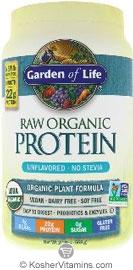 Garden Of Life Kosher Raw Organic Protein Powder Original Unflavored 20 Oz