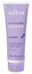 Alba Botanica Cream Shave Unscented 8 OZ