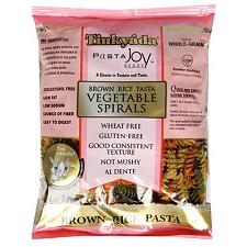 Tinkyada Kosher Brown Rice Pasta Vegetable Spirals Gluten Free 12 OZ.