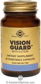 Solgar Kosher Vision Guard with Lutein 30 Vegetable Capsules