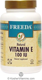 Freeda Kosher Vitamin E 100 IU 100 Tablets