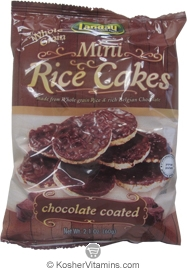 Landau Kosher Mini Whole Grain Rice Cakes Chocolate Coated 2.1 OZ