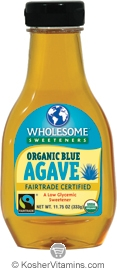 Wholesome Sweeteners Kosher Organic Blue Agave 11.75 OZ