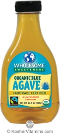 Wholesome Sweeteners Kosher Organic Blue Agave 23.5 OZ
