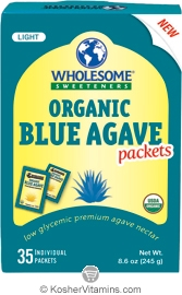Wholesome Sweeteners Kosher Organic Blue Agave 35 Packets