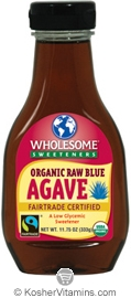 Wholesome Sweeteners Kosher Organic Raw Blue Agave 11.75 OZ