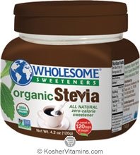 Wholesome Sweeteners Kosher Organic Stevia 4.2 OZ