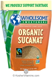Wholesome Sweeteners Kosher Organic Sucanat 2 LB