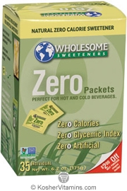 Wholesome Sweeteners Kosher Zero 35 Packets