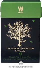 Wissotzky Tea Kosher The Leaves Collection Spearmint Green Tea - Passover 16 Tea Bags