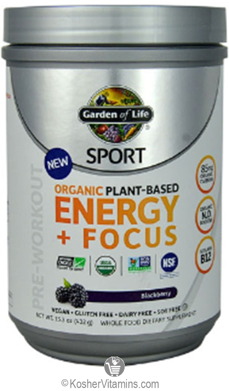 Garden of life kosher sport pre workout energy focus blackberry oz for Garden of life energy and focus